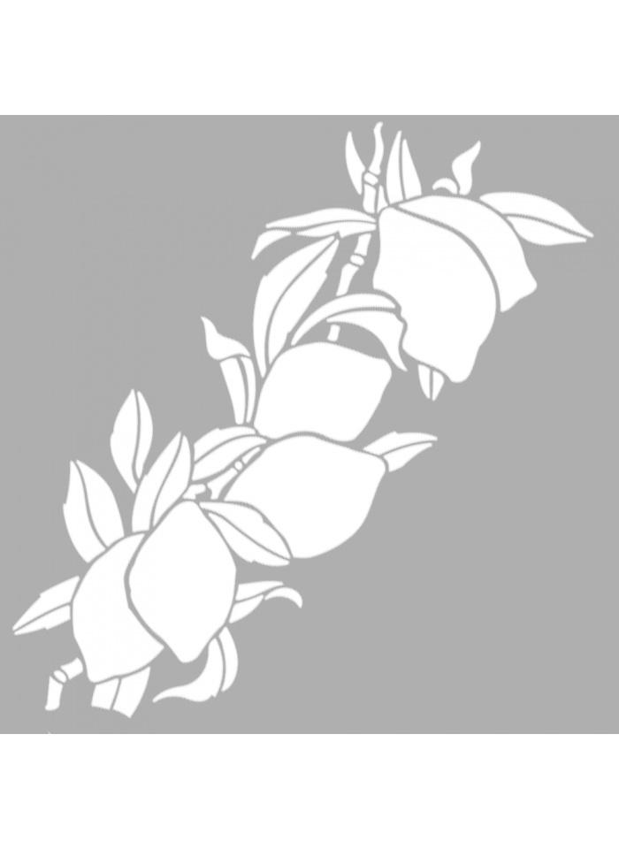 Standart Artikel Lime Dal Motif Stencil Tasarımı 30 x cm